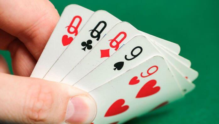 Full house in poker game