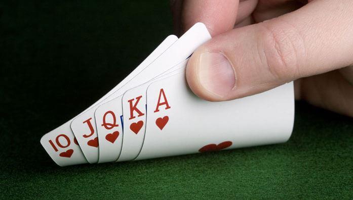 Poker flush rules with royal flush odds
