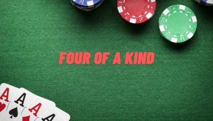four of a kind acehigh poker
