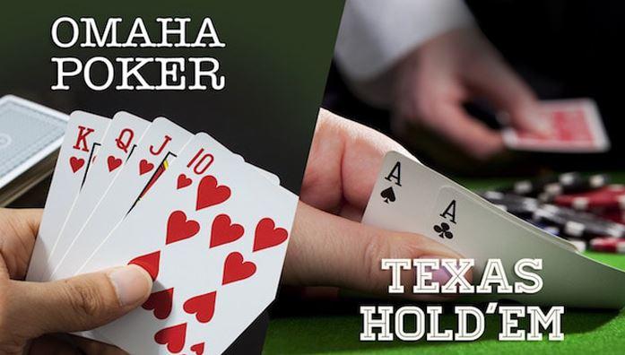 pot limit omaha and  texas holdem