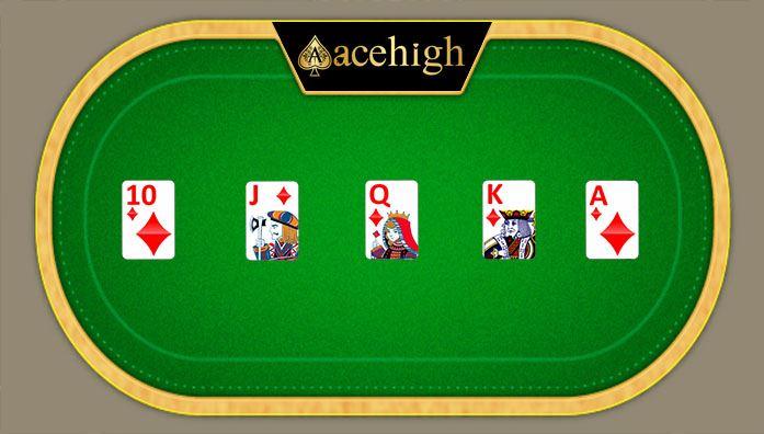 royal flush cards acehigh poker