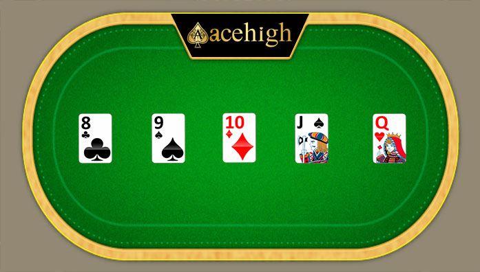 straight cards acehigh poker