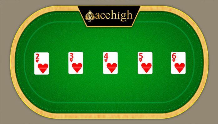 straight flush cards acehigh poker