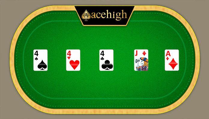 three of a kind acehigh poker